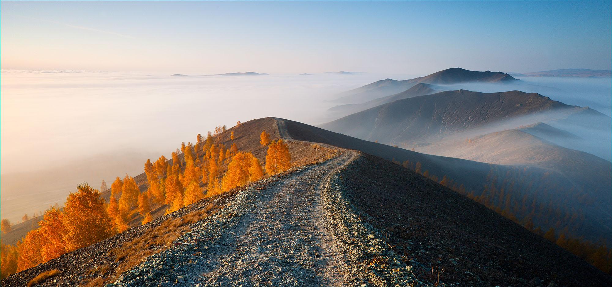 Sunrise at Karabash Mountain, South Urals, Russia - September 2014 ----------------------- Утро на горе Карабаш, Южный Урал, Россия - Сентябрь 2014
