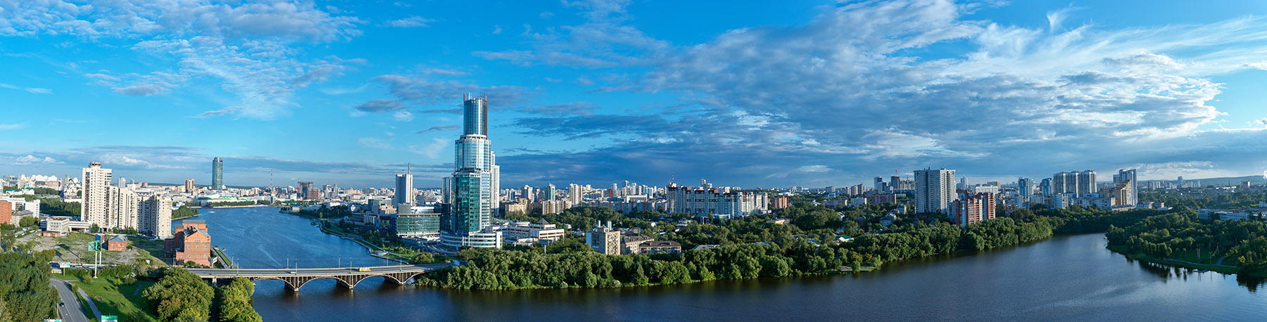 Панорамная архитектурная съемка Екатеринбурга